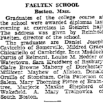 Graduation of Celia Patterson Salata from Faelten School